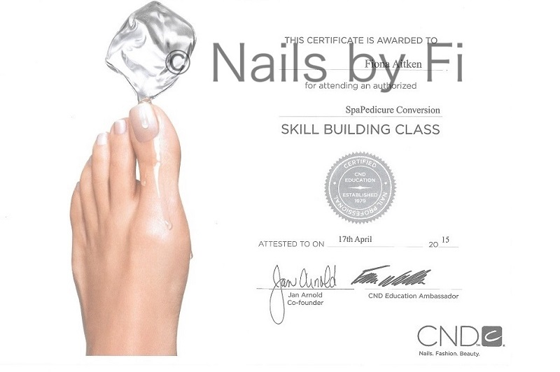 cnd spa pedicure